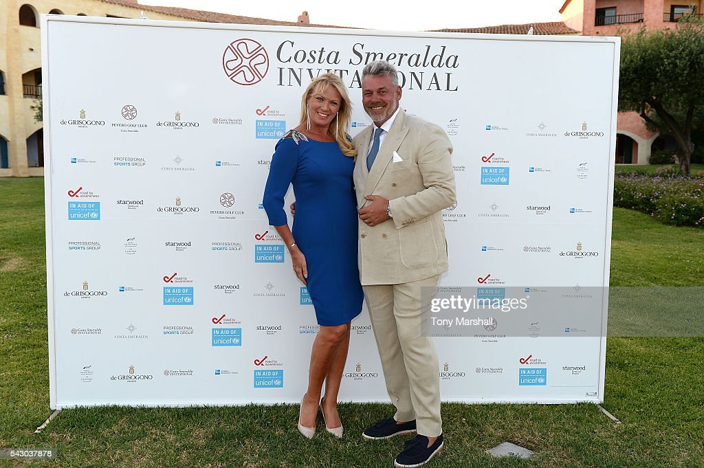<a gi-track='captionPersonalityLinkClicked' href=/galleries/search?phrase=Darren+Clarke&family=editorial&specificpeople=171309 ng-click='$event.stopPropagation()'>Darren Clarke</a> and <a gi-track='captionPersonalityLinkClicked' href=/galleries/search?phrase=Alison+Campbell&family=editorial&specificpeople=7218095 ng-click='$event.stopPropagation()'>Alison Campbell</a> attend the Gala Dinner during The Costa Smeralda Invitational golf tournament at Pevero Golf Club - Costa Smeralda on June 25, 2016 in Olbia, Italy.