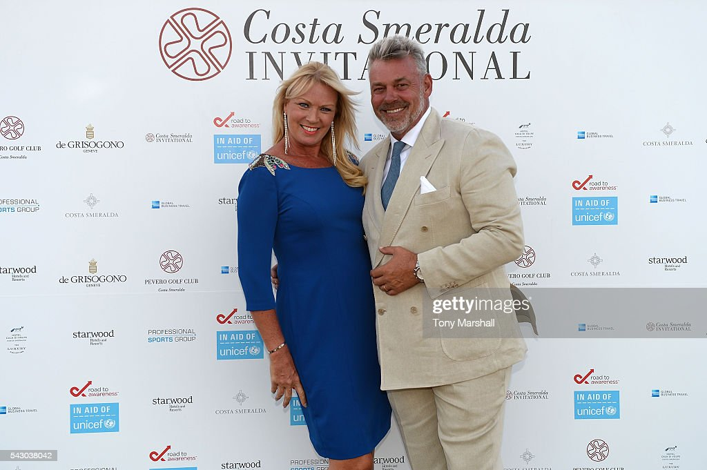 Darren Clarke and Alison Campbell attend the Gala Dinner during The Costa Smeralda Invitational golf tournament at Pevero Golf Club - Costa Smeralda on June 25, 2016 in Olbia, Italy.