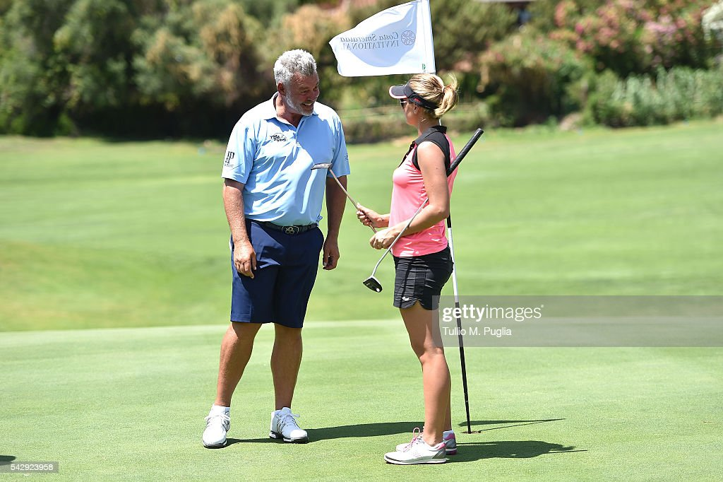 Darren Clarke and Amy Boulden during The Costa Smeralda Invitational golf tournament at Pevero Golf Club - Costa Smeralda on June 25, 2016 in Olbia, Italy.