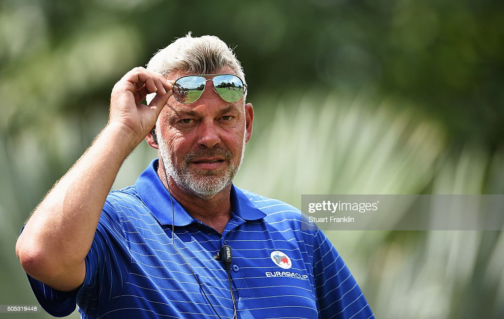Darren Clarke, Captain of team Europe looks on during the final day's singles matches at the EurAsia Cup presented by DRB-HICOM at Glenmarie G&CC on January 17, 2016 in Kuala Lumpur, Malaysia..