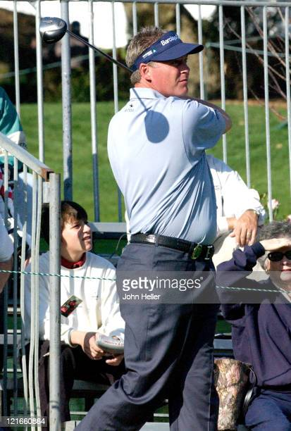 Darren Clarke during 2003 Target World Challenge Presented by Williams Pro Am at Sherwood Country Club in Thousand Oaks California United States