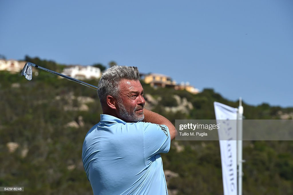 Darren Clarke holds a Golf Clinic during The Costa Smeralda Invitational golf tournament at Pevero Golf Club - Costa Smeralda on June 25, 2016 in Olbia, Italy.