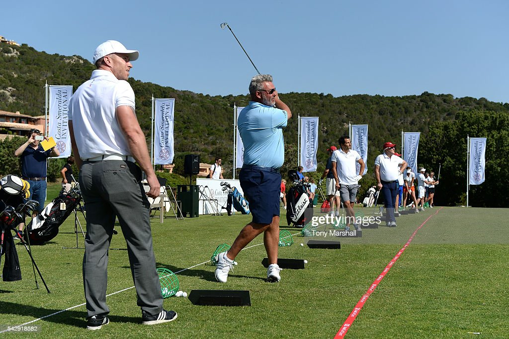 Darren Clarke holds a Golf Clinic during The Costa Smeralda Invitational golf tournament at Pevero Golf Club - Costa Smeralda on June 25, 2016 in Olbia, Italy.