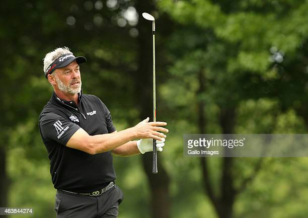 Darren Clarke in action during day 1 of the Dimension Data ProAm at Fancourt Golf Estate on February 19 2015 in George South Africa Clarke has been...