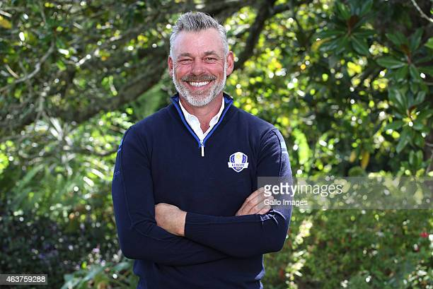 Darren Clarke moments after being announced as captain of Team Europe for the 2016 Ryder Cup during the Dimension Data ProAm at Fancourt Golf Estate...