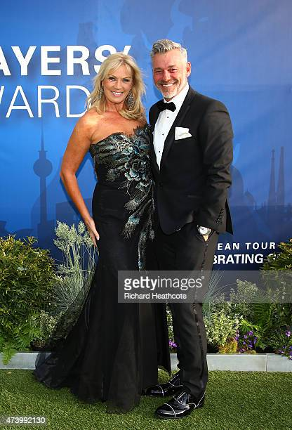 Darren Clarke of Northern Ireland and his wife Alison Campbell attend the European Tour Players' Awards ahead of the BMW PGA Championship at the...