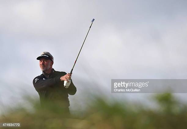 Darren Clarke of Northern Ireland during Day One of the Irish Open at Royal County Down Golf Club on May 28 2015 in Newcastle Northern Ireland