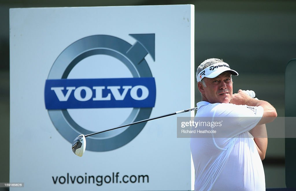 Darren Clarke of Northern Ireland in action during the Pro-Am for the Volvo Champions at Durban Country Club on January 9, 2013 in Durban, South Africa.