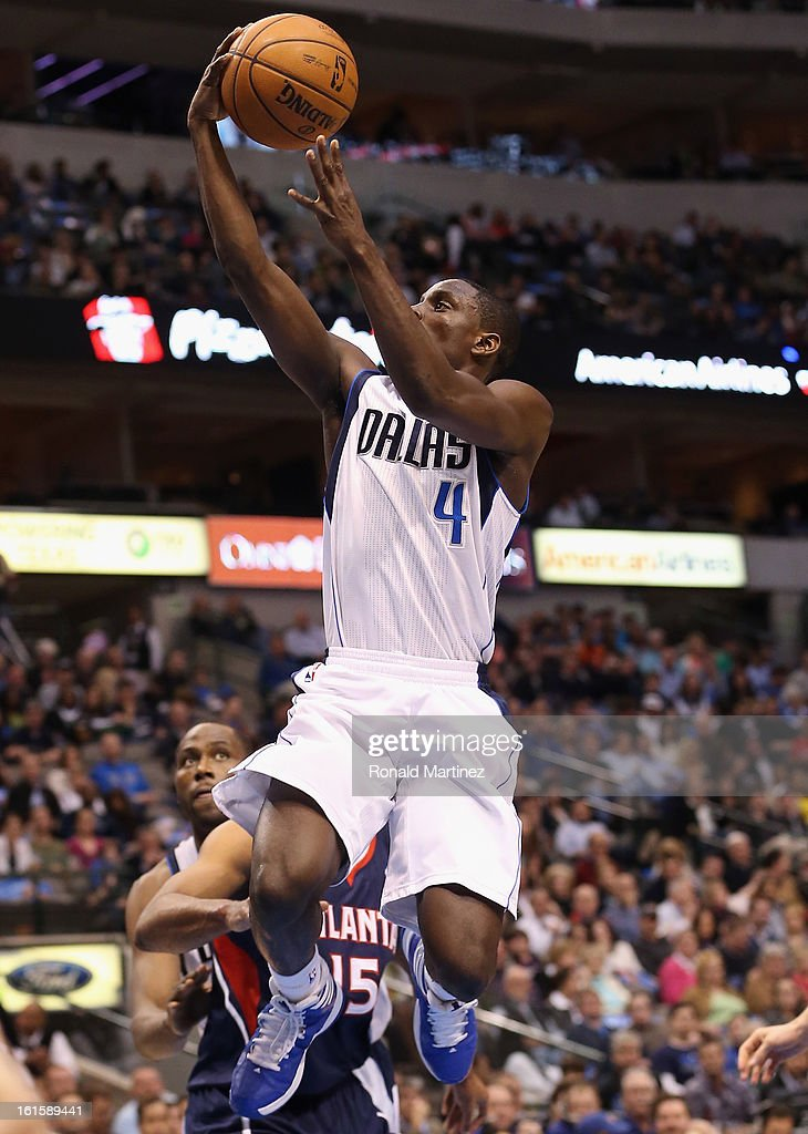 Darren Collison #4 of the Dallas Mavericks at American Airlines Center on February 11, 2013 in Dallas, Texas.