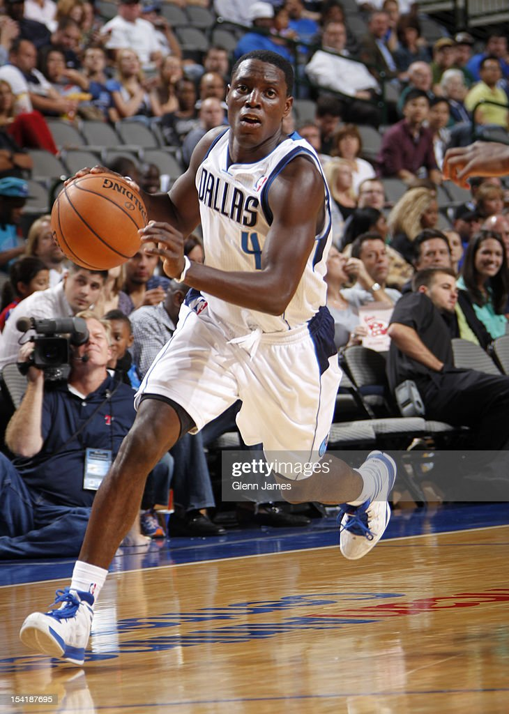 Darren Collison #4 of the Dallas Mavericks drives against the Houston Rockets on October 15, 2012 at the American Airlines Center in Dallas, Texas.