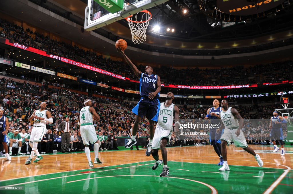 <a gi-track='captionPersonalityLinkClicked' href=/galleries/search?phrase=Darren+Collison&family=editorial&specificpeople=699031 ng-click='$event.stopPropagation()'>Darren Collison</a> #4 of the Dallas Mavericks drives to the basket against the Boston Celtics on December 12, 2012 at the TD Garden in Boston, Massachusetts.