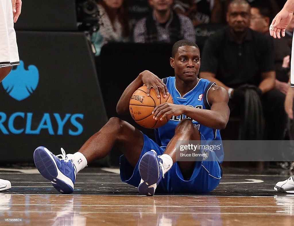 <a gi-track='captionPersonalityLinkClicked' href=/galleries/search?phrase=Darren+Collison&family=editorial&specificpeople=699031 ng-click='$event.stopPropagation()'>Darren Collison</a> #4 of the Dallas Mavericks is called for travelling against the Brooklyn Nets at the Barclays Center on March 1, 2013 in New York City. The Mavericks defeated the Nets 98-90.