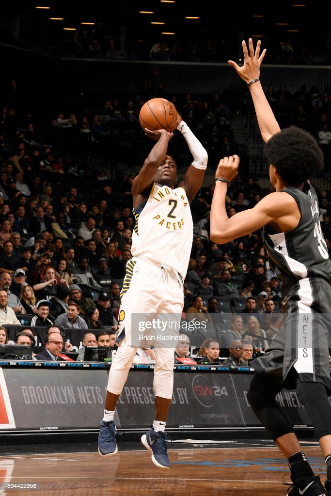 Darren Collison #2 of the Indiana Pacers shoots the ball against the Brooklyn Nets on December 17, 2017 at Barclays Center in Brooklyn, New York.