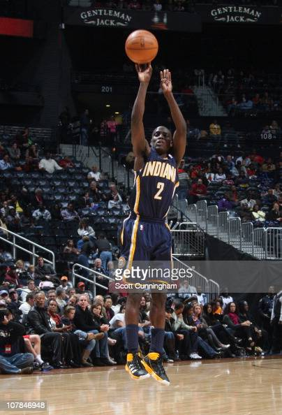 Darren Collison of the Indiana Pacers shoots the ball during a game against the Atlanta Hawks on December 11 2010 at Philips Arena in Atlanta Georgia...