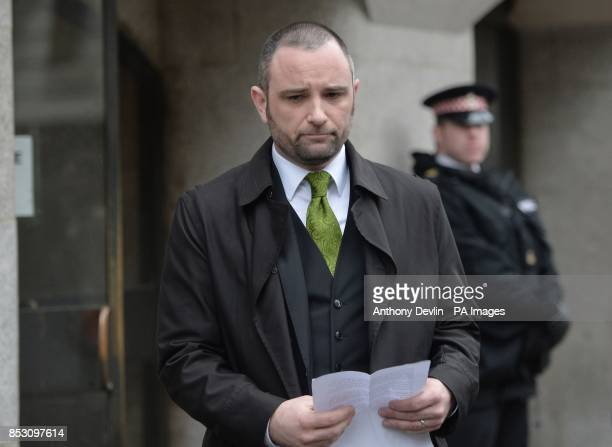 Darren Cray the brotherinlaw of victim Kevin Lee's widow Christina Lee speaks outside the Old Bailey London as a judge has ordered serial killer...