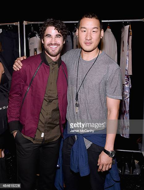 Darren Criss and designer Richard Chai attend Richard Chai Love during MercedesBenz Fashion Week Spring 2015 at The Salon at Lincoln Center on...
