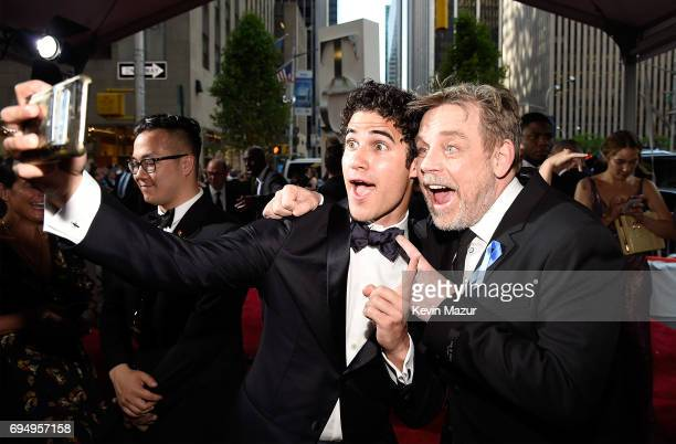Darren Criss and Mark Hamill attend the 2017 Tony Awards at Radio City Music Hall on June 11 2017 in New York City