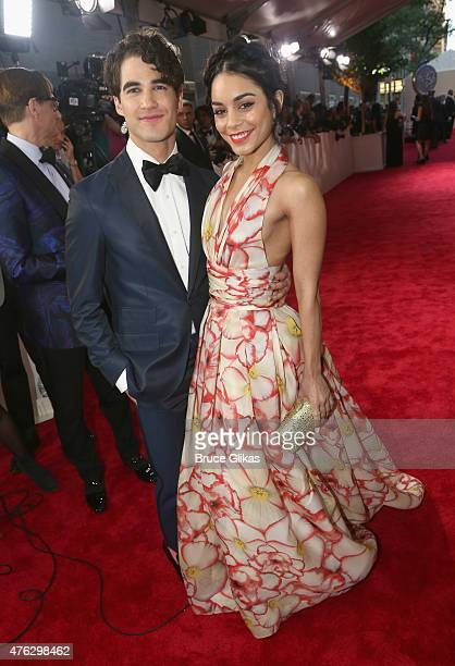 Darren Criss and Vanessa Hudgens attend the American Theatre Wing's 69th Annual Tony Awards at Radio City Music Hall on June 7 2015 in New York City