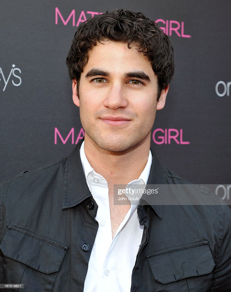 <a gi-track='captionPersonalityLinkClicked' href=/galleries/search?phrase=Darren+Criss&family=editorial&specificpeople=7341435 ng-click='$event.stopPropagation()'>Darren Criss</a> attends Madonna's 'Fashion Evolution' Pop-Up Exhibit, hosted by Material Girl at Macy's Westfield Century City on April 25, 2013 in Century City, California.