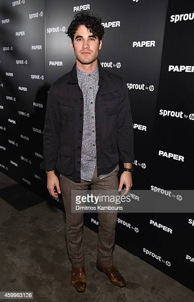 Darren Criss attends Paper Magazine Sprout By HP DKNY Break The Internet Issue Release at 1111 Lincoln Road on December 4 2014 in Miami Florida