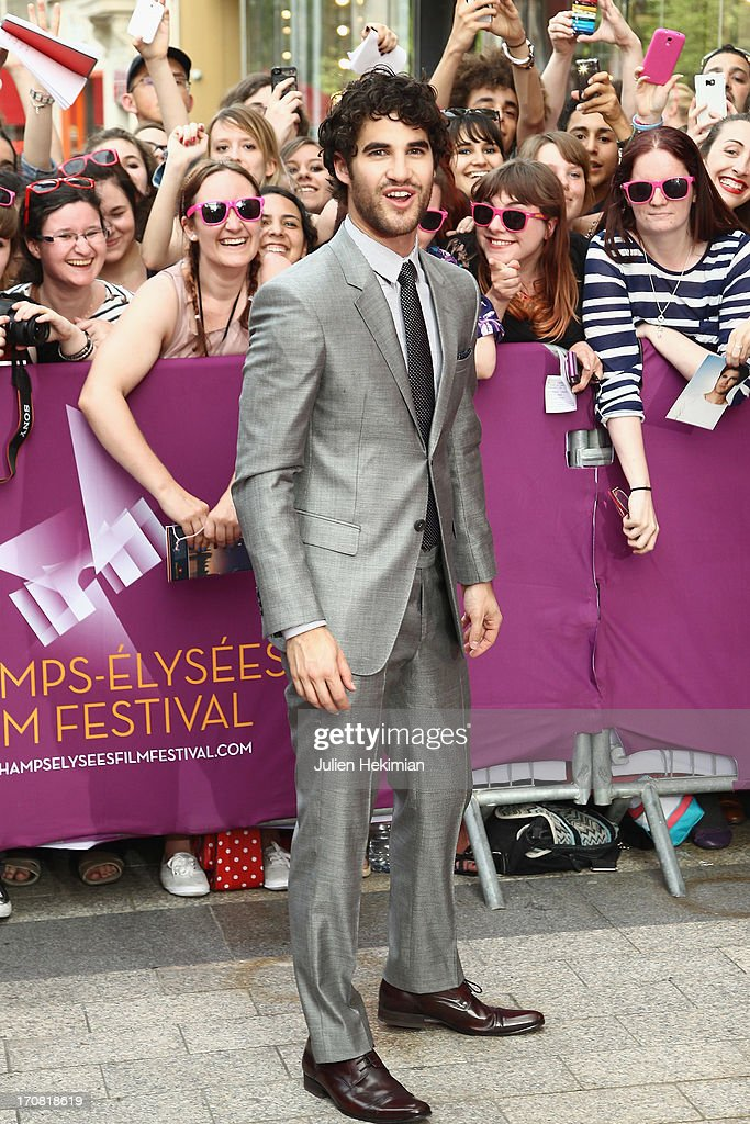 <a gi-track='captionPersonalityLinkClicked' href=/galleries/search?phrase=Darren+Criss&family=editorial&specificpeople=7341435 ng-click='$event.stopPropagation()'>Darren Criss</a> attends the 'Imogene' Paris Premiere As Part of The Champs Elysees Film Festival 2013 at Publicis Champs Elysees on June 18, 2013 in Paris, France.