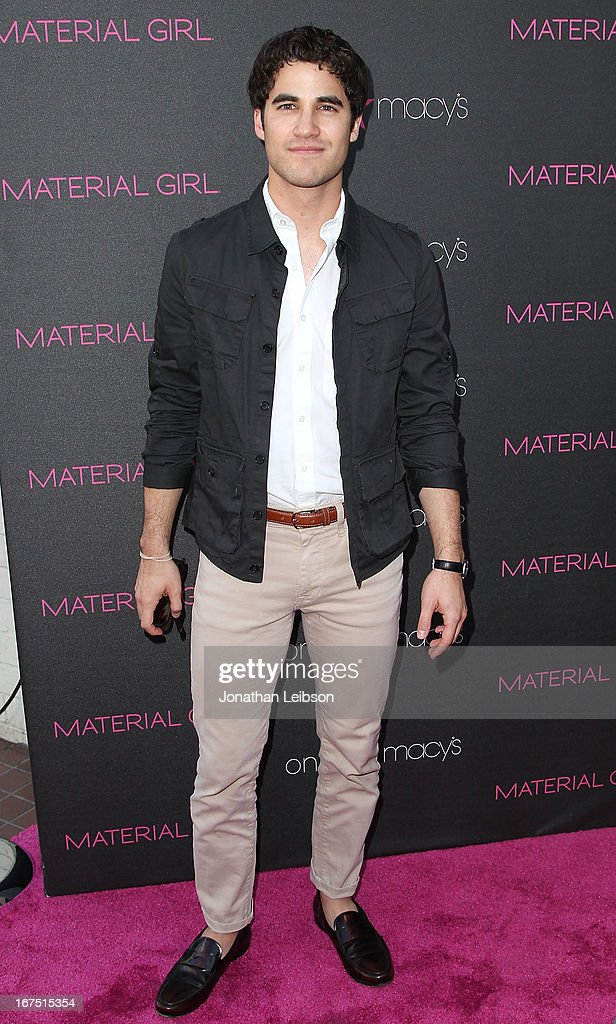 <a gi-track='captionPersonalityLinkClicked' href=/galleries/search?phrase=Darren+Criss&family=editorial&specificpeople=7341435 ng-click='$event.stopPropagation()'>Darren Criss</a> attends the Madonna's Fashion Evolution Pop-Up Exhibition In Conjunction With The Pop Star's 'Material Girl' Clothing Line At Macy's at Macy's Westfield Century City on April 25, 2013 in Century City, California.