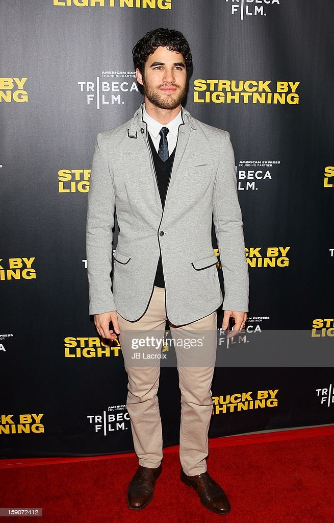 Darren Criss attends the 'Struck By Lighting' premiere held at Mann Chinese 6 on January 6, 2013 in Los Angeles, California.