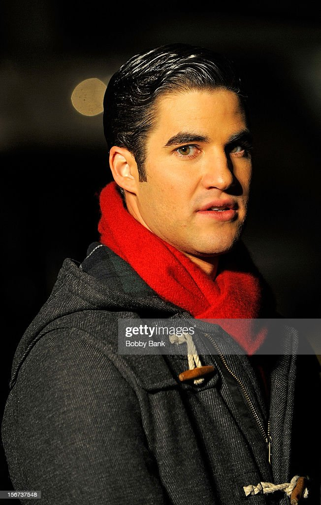 Darren Criss filming on location for 'Glee' on November 19, 2012 in New York City.