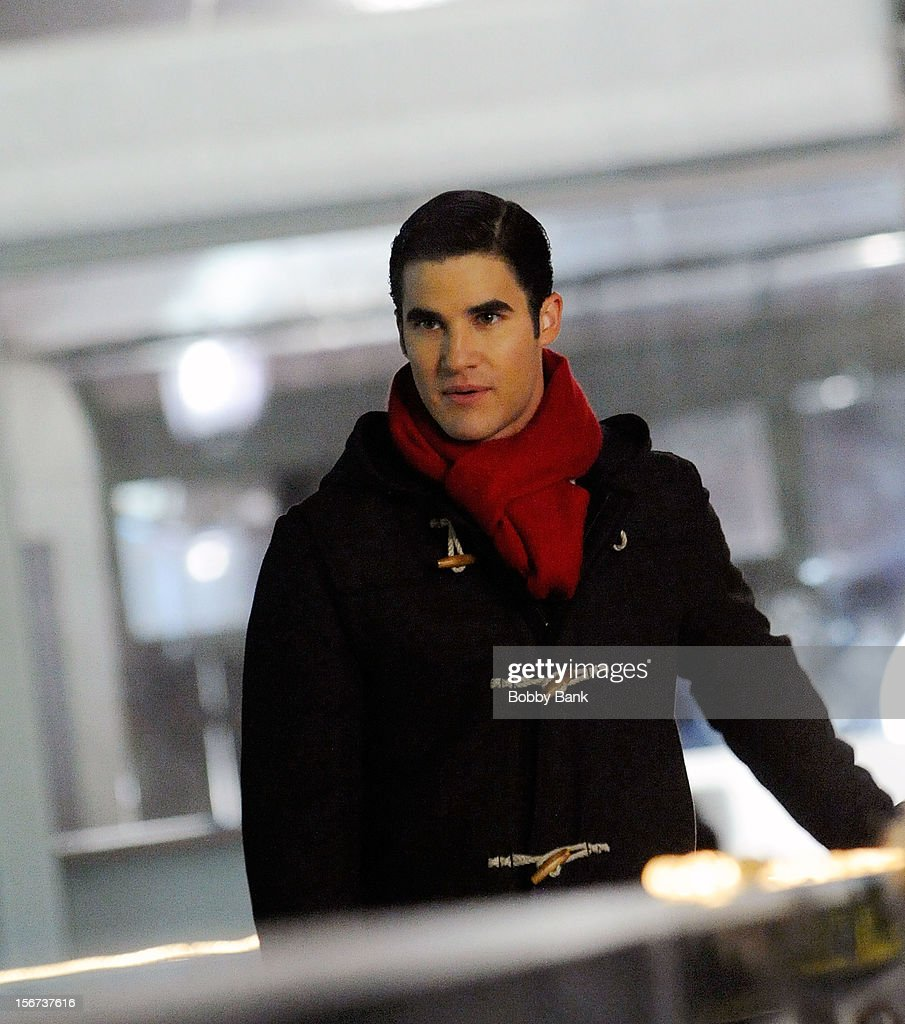 <a gi-track='captionPersonalityLinkClicked' href=/galleries/search?phrase=Darren+Criss&family=editorial&specificpeople=7341435 ng-click='$event.stopPropagation()'>Darren Criss</a> filming on location for 'Glee' on November 19, 2012 in New York City.