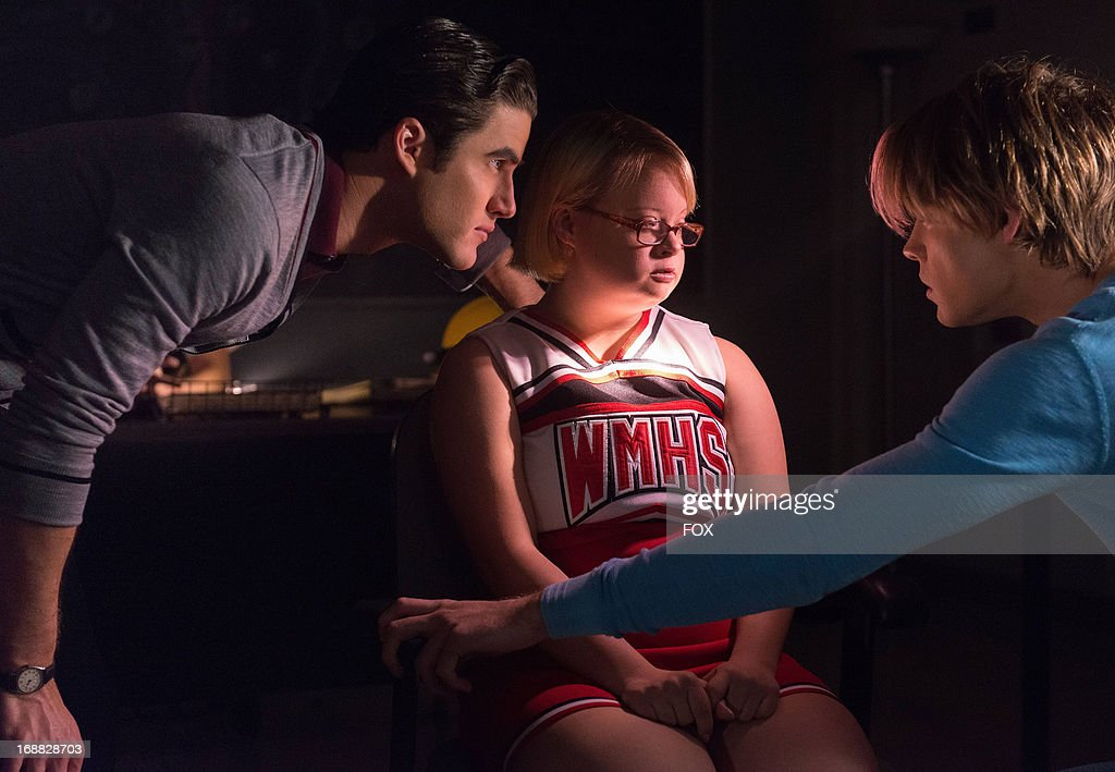 Darren Criss, Lauren Potter and Chord Overstreet star in the 'Lights Out' episode of GLEE airing Thursday, April 25, 2013 (9:00-10:00 PM ET/PT) on FOX.