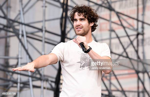 Darren Criss performs during Elsie Fest at Pier 97 on September 27 2015 in New York City