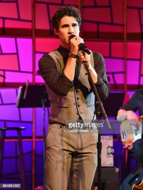 Darren Criss performs onstage during the Saint John's Health Center 75th Anniversary Gala Celebration on October 21 2017 in Culver City California
