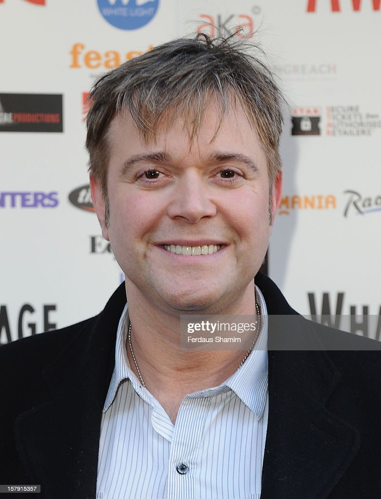 <a gi-track='captionPersonalityLinkClicked' href=/galleries/search?phrase=Darren+Day&family=editorial&specificpeople=225200 ng-click='$event.stopPropagation()'>Darren Day</a> attends the Whatsonstage.com Theatre Awards nominations launch at Cafe de Paris on December 7, 2012 in London, England.