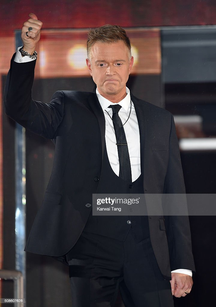 <a gi-track='captionPersonalityLinkClicked' href=/galleries/search?phrase=Darren+Day&family=editorial&specificpeople=225200 ng-click='$event.stopPropagation()'>Darren Day</a> is evicted from the Big Brother house at Elstree Studios on February 5, 2016 in Borehamwood, England.
