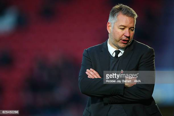 Darren Ferguson head coach / manager of Doncaster Rovers during the Sky Bet League Two match between Doncaster Rovers and Hartlepool United at...