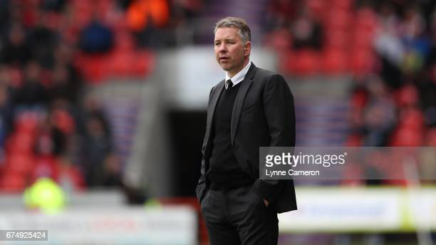 Darren Ferguson manager of Doncaster Rovers during the Sky Bet League Two match between Doncaster Rovers and Exeter City at Keepmoat Stadium on April...