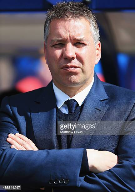 Darren Ferguson manager of Peterborough United looks on during the Sky Bet League One match between Shrewsbury Town and Peterborough United on April...