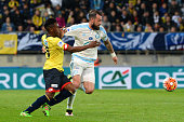 Darren Fletcher of Marseille during the semifinal French Cup between Sochaux and Olympique de Marseille at Stade Auguste Bonal on April 20 2016 in...