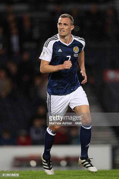 Darren Fletcher of Scotland during the FIFA 2018 World Cup Qualifier between Scotland and Lithuania at Hampden Park on October 8 2016 in Glasgow...