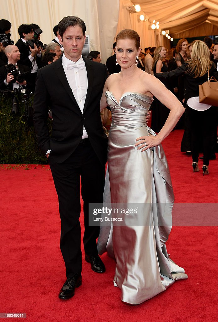 Darren Gallo and Amy Adams attend the 'Charles James Beyond Fashion' Costume Institute Gala at the Metropolitan Museum of Art on May 5 2014 in New...
