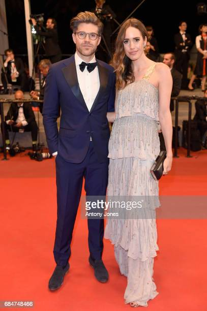 Darren Kennedy and guest attend the 'Blade Of The Immortal ' screening during the 70th annual Cannes Film Festival at Palais des Festivals on May 18...