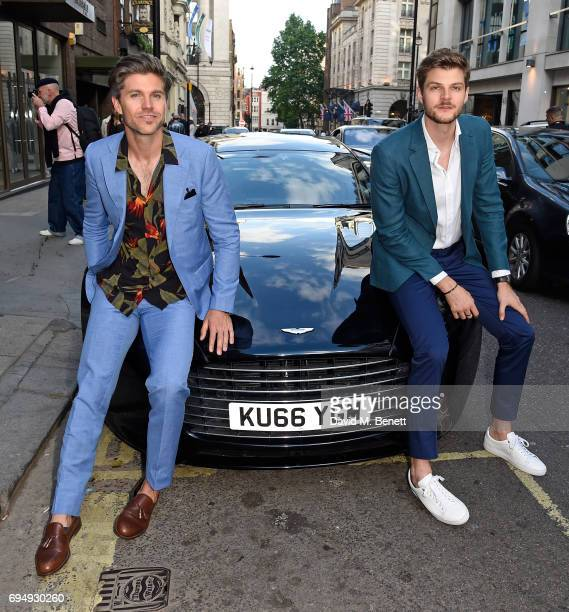 Darren Kennedy and Jim Chapman attend the Aston Martin x Hogan London Fashion Week Men's Cocktail in partnership with GQ Style on June 11 2017 in...