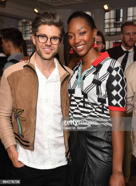 Darren Kennedy and Vanessa Kingori attend the dunhill London presentation during the London Fashion Week Men's June 2017 collections on June 9 2017...