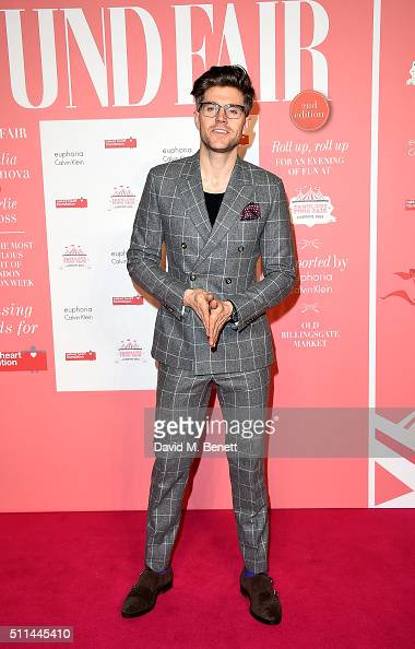 Darren Kennedy at The Naked Heart Foundation's Fabulous Fund Fair in London at Old Billingsgate Market on February 20 2016 in London England