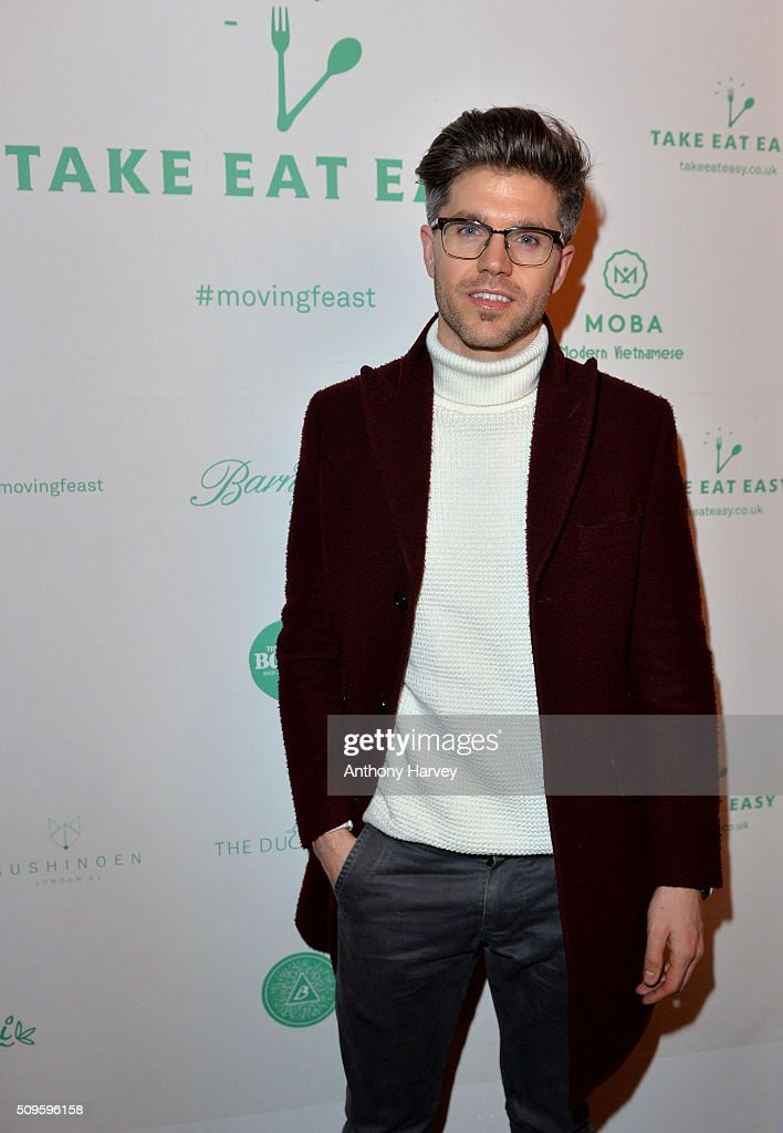 Darren Kennedy attends the Moving Feast pop-up brought to you by Take Eat Easy at Protein on February 11, 2016 in London, England.