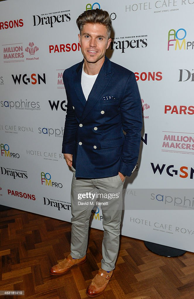 Darren Kennedy attends the VIP charity event, which Drapers and WGSN Group, partnered with Parsons The New School for Design and the British Fashion Council to hold, in aid of the Prince's Trust Million Makers on August 4, 2014 in London, England. The event saw the launch the acclaimed book 'The School of Fashion: 30 Parsons Designers' by Simon Collins, Dean of Fashion at Parsons. The richly-illustrated volume explores the legacy of Parsons through the testimony of its brightest alumni, with interviews and sketches from Donna Karan, Alexander Wang, Jack McCullough and Lazaro Hernandez of Proenza Schouler, and many others.