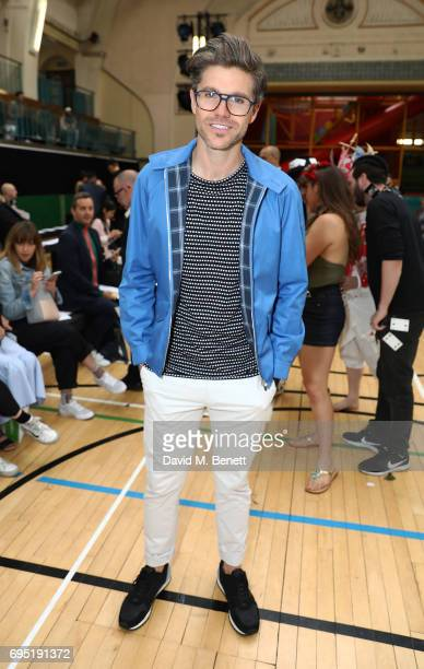 Darren Kennedy attends the Vivenne Westwood SS18 show during the London Fashion Week Men's June 2017 collections on June 12 2017 in London England