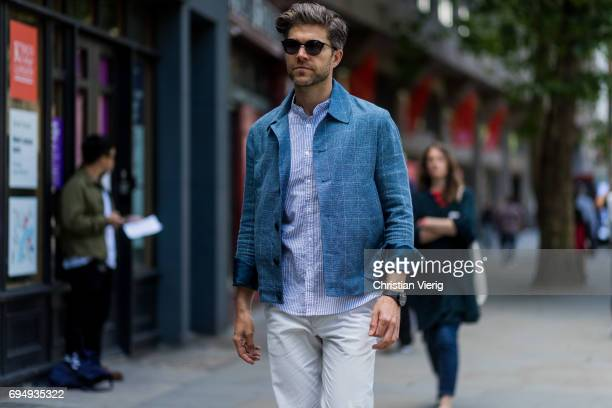 Darren Kennedy during the London Fashion Week Men's June 2017 collections on June 11 2017 in London England