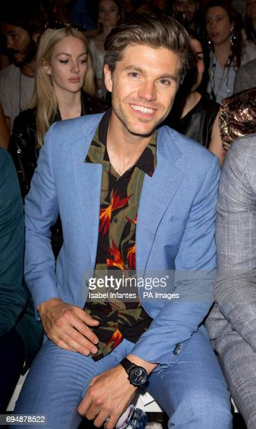 Darren Kennedy on the front row during the Christopher Raeburn London Fashion Week Men's June 2017 show held at the BFC Show Space London