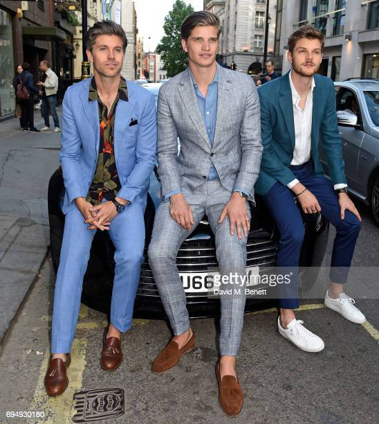 Darren Kennedy Toby HuntingtonWhiteley and Jim Chapman attend the Aston Martin x Hogan London Fashion Week Men's Cocktail in partnership with GQ...
